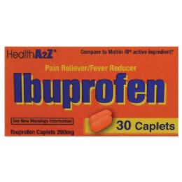 24 Units of IBUPROFEN 30 CAPLETS 200 MG COMPARE TO MOTRIN - Pain and Allergy Relief