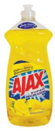 9 Units of AJAX DISHWASHING LIQUID 28 OZ SUPER DEGREASER LEMON MADE IN USA - Cleaning Products
