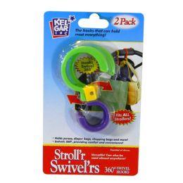 12 Units of Stroll'r Swivel'rs Swivel Hooks 360 Degrees 2pk - Hooks