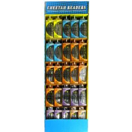 75 Units of Cheetah Readers 3pk Glasses Astd Power Display +1.25 To +3.00 - Reading Glasses