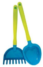 36 Units of Pride Beach Toy Rake And Shovel 16 In Assorted Designs - Beach Toys