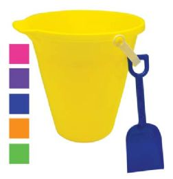 48 Units of BEACH PAIL 9 IN WITH SHOVEL AND SPOUT - Beach Toys