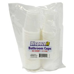 36 Units of Bathroom Cup 80 Count 2.5 Ounces White - Disposable Cups