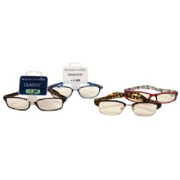 100 Units of FOSTER GRANT PREMIUM READING GLASSES ASSORTED STYLES AND POWERS +1.00 TO 1.50 - Eyeglass & Sunglass Cases