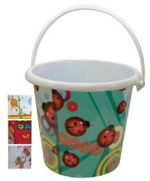 48 Units of Pride Kids Pail 6.75 X 7 Inch - Waste Basket