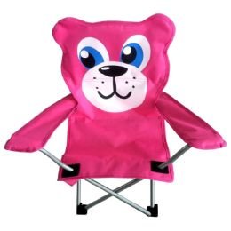 6 Units of CAMPING CHAIR 26 X 14 X 14 BEAR DESIGN - Camping Gear
