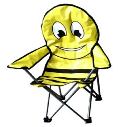 6 Units of S.F.H. CAMPING CHAIR FOR KIDS 26 X 14 X 14 BEE DESIGN - Camping Gear
