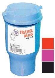 36 Units of Pride Travel Mug 18 Ounce With Lid Assorted Colors - Coffee Mugs
