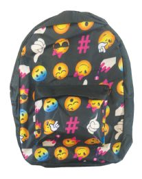 18 Units of BACK PACK 16X12X6 INCHES EXPRESSION FACE DESIGN - Backpacks 16""