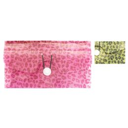 36 Units of COUPON HOLDER 5 POCKET 10.5 X 5 INCHES LEOPARD PRINT - Folders and Report Covers