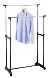 6 Units of CLOTHING RACK 33X17X63 INCHES DOUBLE POLE ADJUSTABLE - Laundry  Supplies