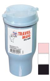 24 Units of Pride Travel Mug 32 Ounce With Lid Assorted Colors - Coffee Mugs