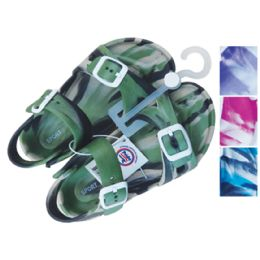 24 Units of UNISEX SANDAL ADJUSTABLE STRAPS YOUTH ASSORTED SIZES 11-3 AND COLORS - Men's Slippers