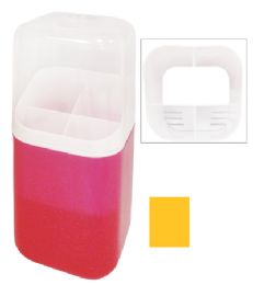 12 Units of STORAGE CONTAINER WITH LID AND MULTIPLE COMPARTMENTS 11 INCHES - Storage Holders and Organizers