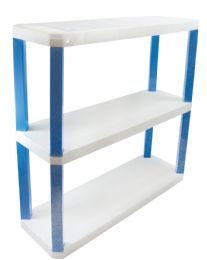 3 Units of STORAGE UNIT 3 SHELVES PLASTIC 30.50X10X30 INCHES - Storage & Organization