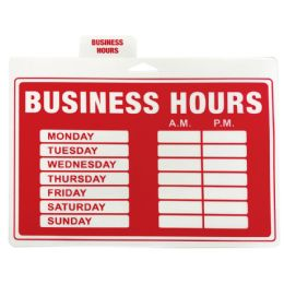 48 Units of Plastic Sign Business Hours 12 X 9 Inches - Signs & Flags