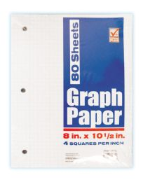 48 Units of CHECK PLUS GRID PAPER 80 SHEETS 10.5X8 INCHES - Paper