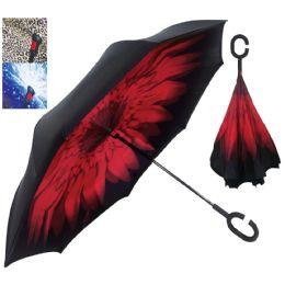 12 Units of Pride Inverted Umbrella Assorted Designs - Umbrella