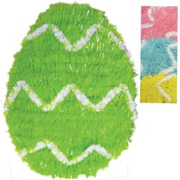 24 Units of EASTER EGG DECORATION 12 INCH TINSEL ASSORTED COLORS - EASTER
