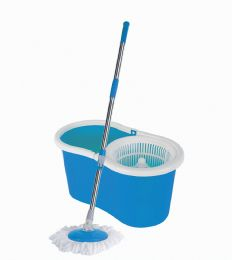 6 Units of Spin Mop 47 Inch With Bucket 18 X 10 X 9 Inches + 1 Refill Blue - Cleaning Products
