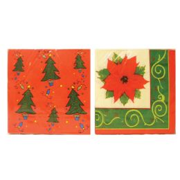 48 Units of Christmas Napkin 13x13 Inches 2 Ply 20 Count Assorted - Christmas Decorations