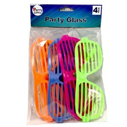 48 Units of PARTY SOLUTIONS PARTY GLASSES - Novelty & Party Sunglasses