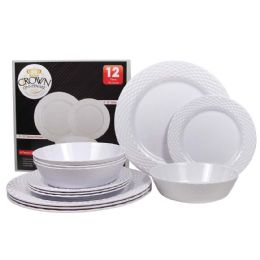 6 Units of CROWN DINNERWARE MELAMINE 12 P - Plastic Bowls and Plates
