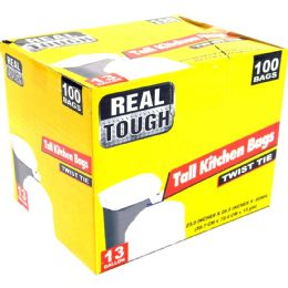 12 Units of Real Tough Tall Kitchen Bag 13 - Garbage & Storage Bags