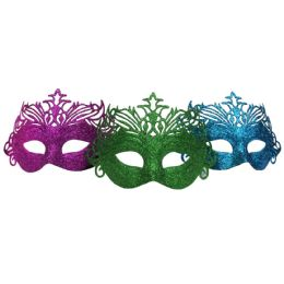 48 Units of Party Solutions Glitter Masque - Costumes & Accessories