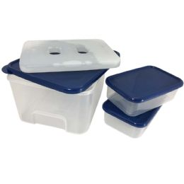 16 Units of Plastic Food Storage Set 8 Cup - Food Storage Containers