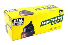 12 Units of Real Tough Trash Bag 39 Gl 30 - Garbage & Storage Bags
