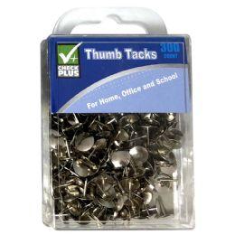 36 Units of Check Plus Thumb Tacks 300 ct - Push Pins and Tacks