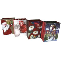 48 Units of Party Solutions Glitter Xmas G - Gift Bags