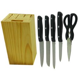 6 Units of Simply Kitchenware Knife Block - Kitchen Gadgets & Tools