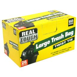 12 Units of Real Tough Trash Bag 26 Gl 60 - Garbage & Storage Bags