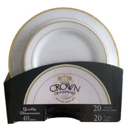 6 Units of Crown Dinnerware 40 Pc Plate S - Plastic Bowls and Plates