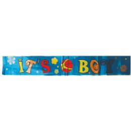 24 Units of FOIL BANNER 4 X 68 INCH IT'S A BOY - Party Banners