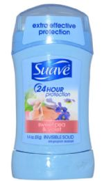 12 Units of SUAVE SOLID SWEET PEA AND VIOLET 1.4 OZ 24 HOUR PROTECTION - Deodorant