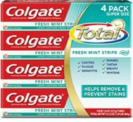 24 Units of COLGATE 6.3OZ - MINT STRIPE GEL 4 X6 PKS - Store