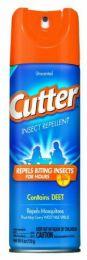 12 Units of CUTTER 6 OZ UNSCENTD INSECT REPELLENT AEROSOL 10% DEET (51020) - Bug Repellants