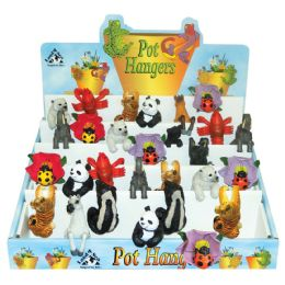 72 Units of Land And Sea Decorative Pot Hangers With Display Large Assorted Animal Designs - Garden Decor