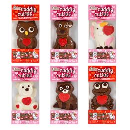 24 Units of CUDDLE CUTIES HEART 3 OZ - Valentines