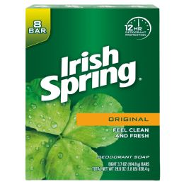 4 Units of IRISH SPRING BAR SOAP 8 PK 3.7 OZ DEEP ACTION SCRUB - Soap & Body Wash