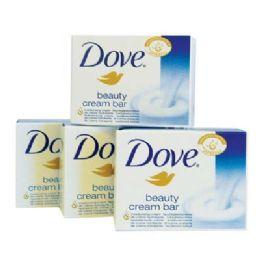12 Units of DOVE BEAUTY CREAM BAR 100G 4 PK - Soap & Body Wash