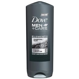 12 Units of DOVE BODYWASH 400 ML CHARCOAL AND CLAY MEN - Store