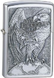 ZIPPO MADE IN USA EAGLE AND GLOBE BRUSHED CHROME - Lighters
