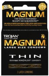 12 Units of Trojan 3's Magnum Thin - Personal Care Items