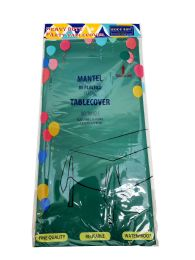 48 Units of Plastic Table Cover 54x108 Green Hunter - Table Cloth
