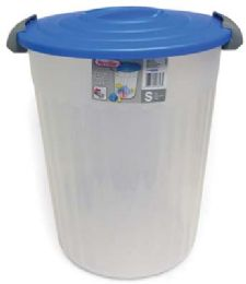 6 Units of Sterilite Utility Can 24 Qt White With Blue Lid - Storage & Organization