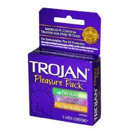 12 Units of TROJAN PLEASURE PACK 3PK - Personal Care Items